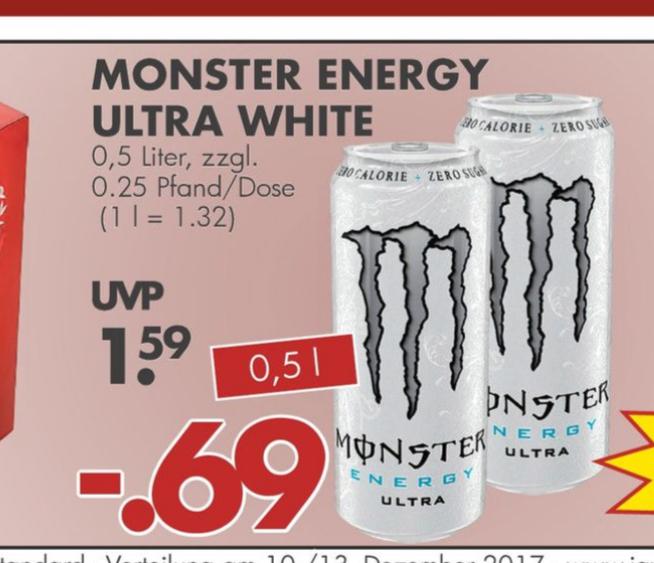 Monster Energy Ultra White @Jawoll