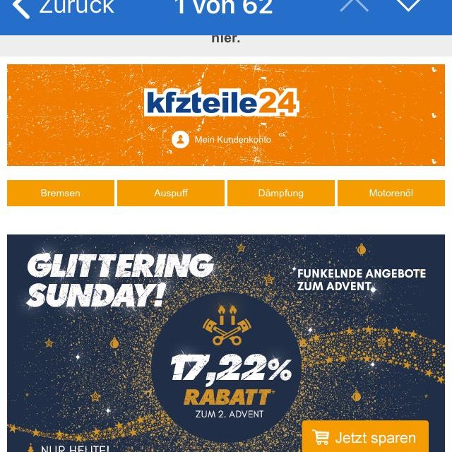 17 % Rabatt KFZ TEILE 24