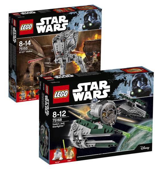 Lego Star Wars-Bundle: Yoda's Jedi Starfighter 75168 und AT-ST Walker 75153