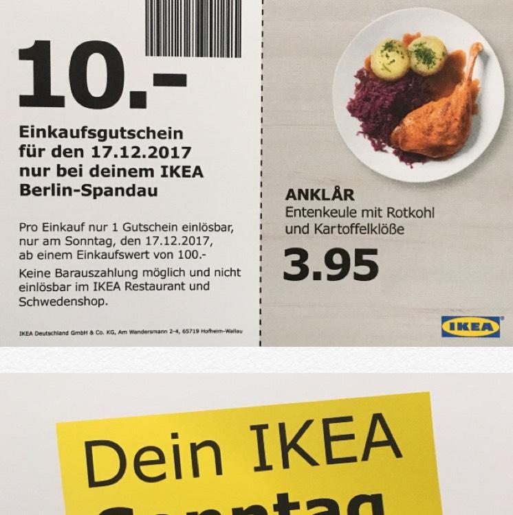 (Ikea Berlin Spandau) 10€ Extra ab 100€ EW am 17.12.2017
