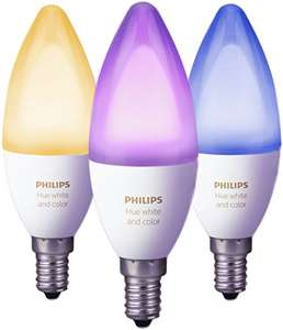 Philips Hue White and Color Ambiance E14 LED Dreierpack