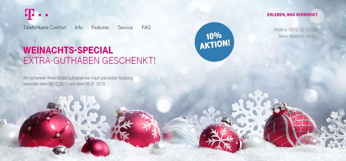 10% Extra Guthaben auf Telekom Comfort Karten