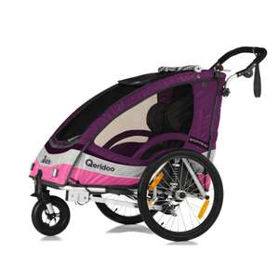 Qeridoo Kinderfahrradanhänger Sportrex2 für zwei Kinder (nur Violett