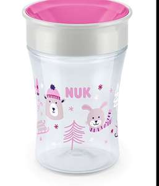 NUK - Magic Cup, neuartiger Trinkrand, abdichtende Silikonscheibe, 230 ml, bla