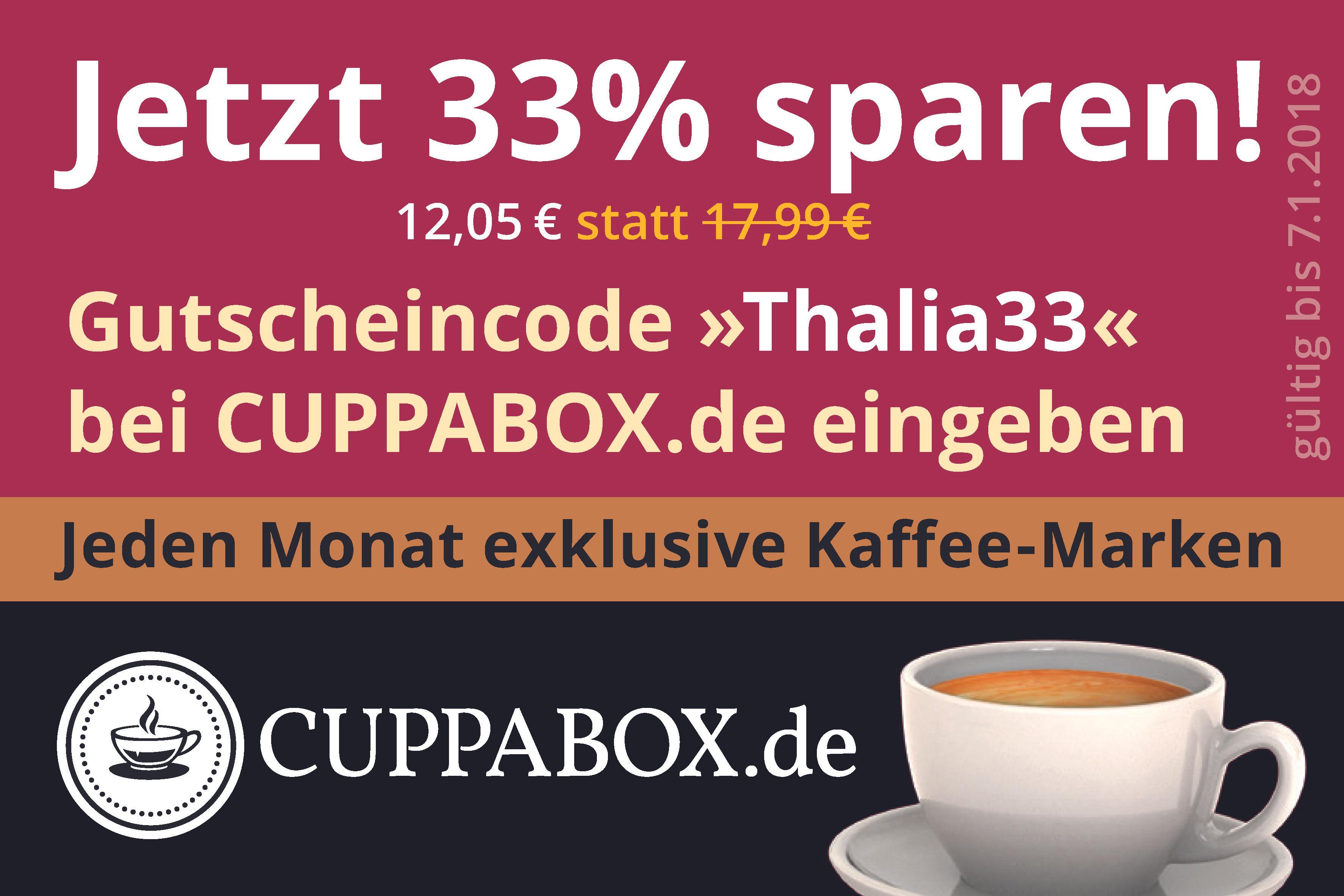 Kaffeeboxen mit monatlich neuen Sorten - 33% Rabatt!