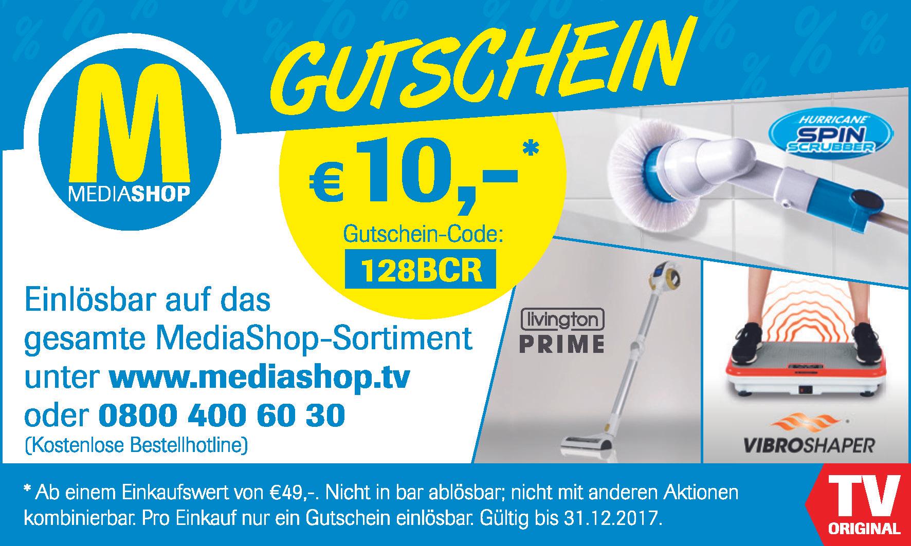 10€ auf das gesamte Teleshopping Sortiment bei Mediashop.tv