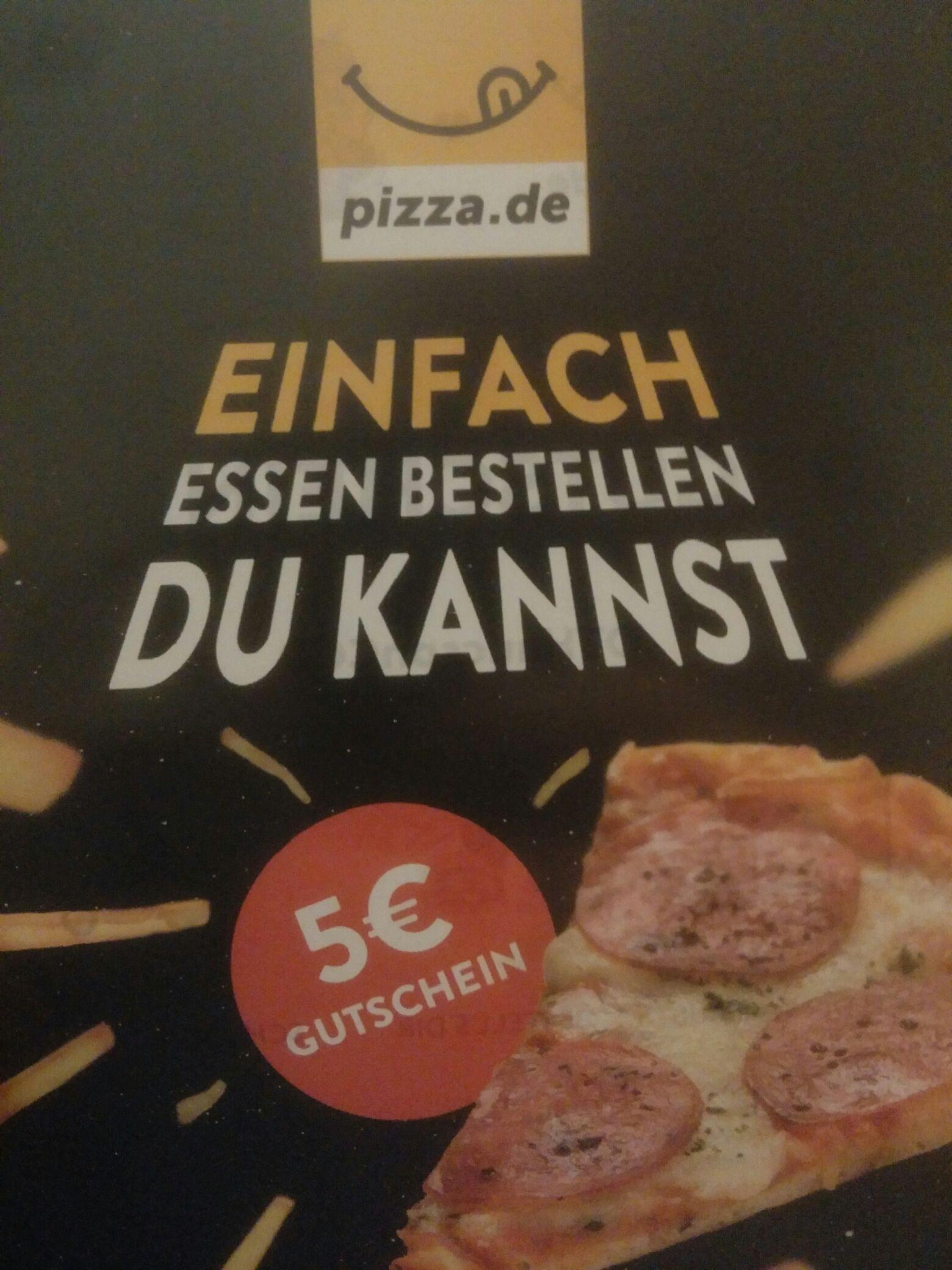 Pizza.de -5€ codes mbw 10€