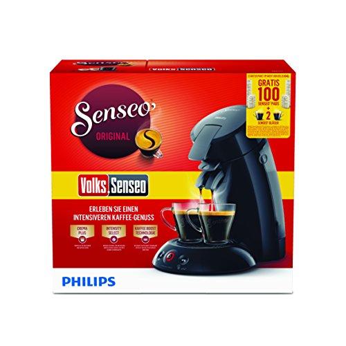 Philips HD6554/69 Kaffeepadmaschine + 2 Gläser & 100 Pads gratis für 44,99€
