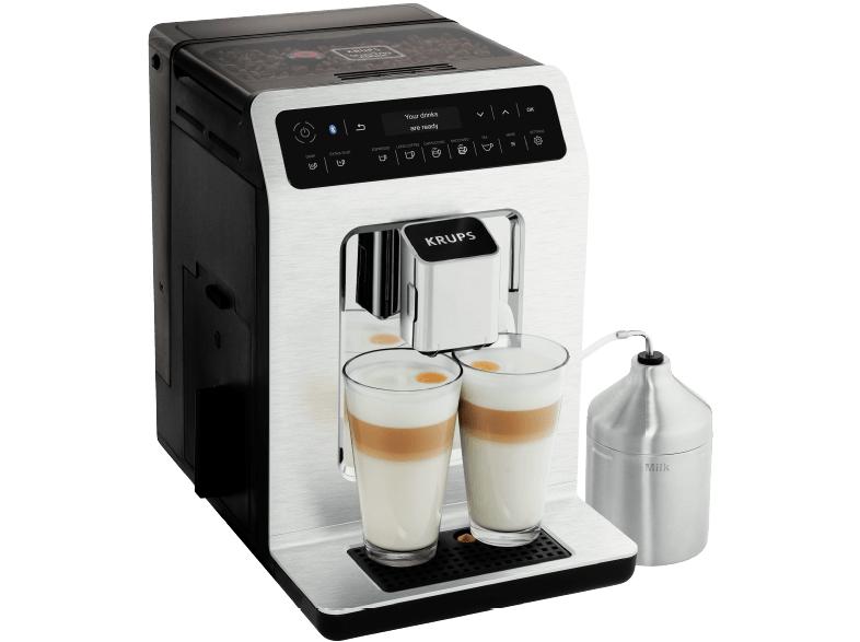KRUPS EA893C Evidence Kaffeevollautomat Schwarz/Aluminium/Chrome (Edelstahl-Kegelmahlwerk, 2.1 Liter Wassertank)