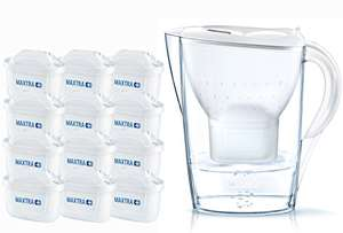 [amazon.de] Brita Wasserfilter Jahrespaket Marella, inkl. 12 Maxtra+ Filterkartuschen weiß