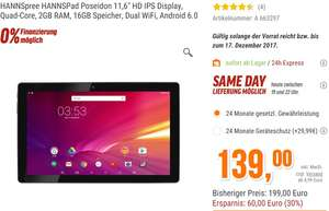 "TABLET - HANNSpree HANNSPad Poseidon 11,6"" HD IPS Display, Quad-Core, 2GB RAM, 16GB Speicher"