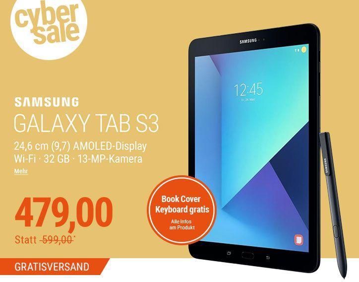 Samsung GALAXY Tab S3 zum Top-Preis + Book Cover Keyboard Gratis