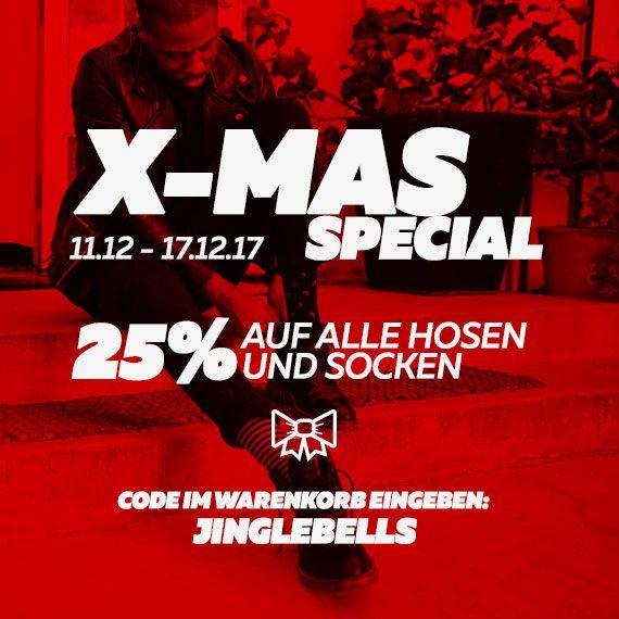 BURNER X-MAS SPECIAL   25% auf Hosen & Socken