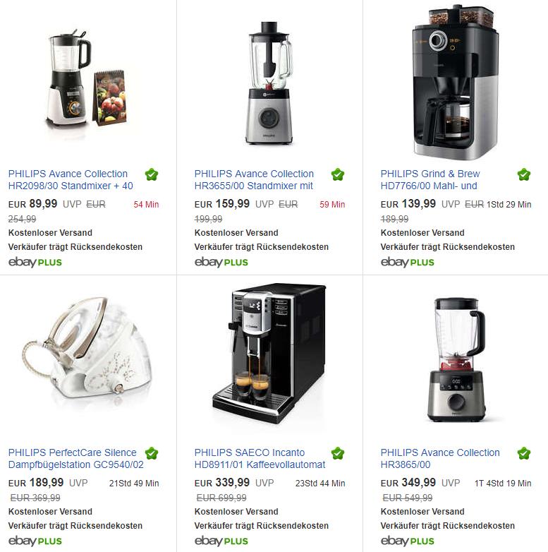 Viele Philips Produkte als B-Ware günstig bei ebay und -10% zusätzlich