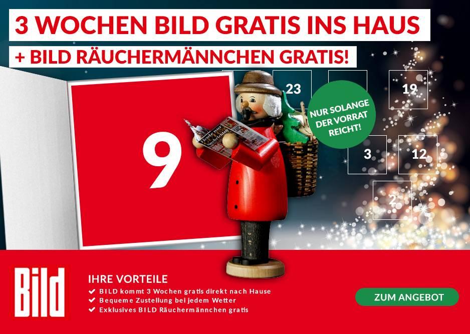 [Lesershop24] 3 Wochen Bild + Räuchermännchen gratis erhalten (Kündigung notwendig)