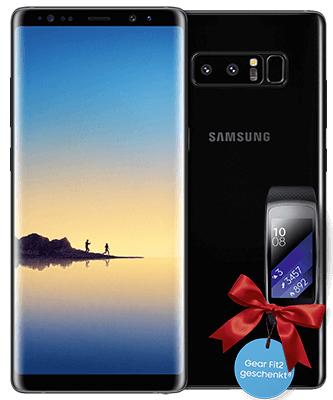 Telekom MagentaMobil M (Young) mit Samsung Galaxy Note 8 + Gear Fit 2 (nur mit MagentaEins Vorteil)