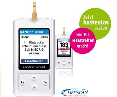 Blutzuckermessgerät für Diabetiker mit 60 Teststreifen anstatt 43,99€ für 0€ frei Haus