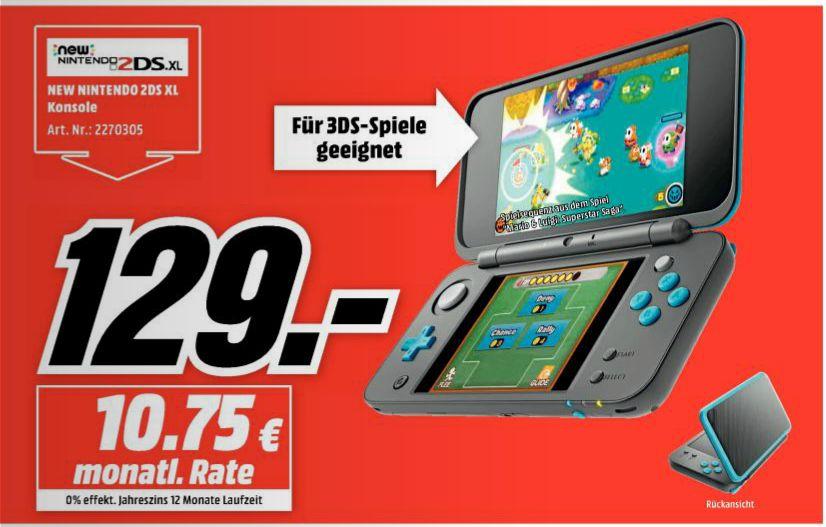 [Mediamark/Angebote Online] Ich zerpflücke den Prospekt..zb...Nintendo New 2DS XL schwarz-türkis für 129,-€ etc..