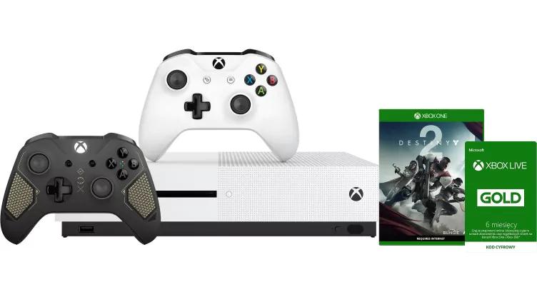 Xbox One S 500 GB + Recon Tech + Destiny 2 + 6 Monate Xbox Live PL MS Store