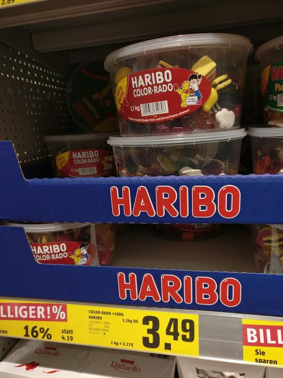 (Lokal? Bremen) 1100 g Haribo Color Rado 3,49 EUR (3,17/Kg) in Bremen Arbergen