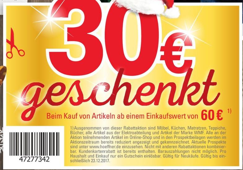 Lokal Berlin Landsberger Allee Höffner 30€ Rabatt ab 60€ Einkaufswert