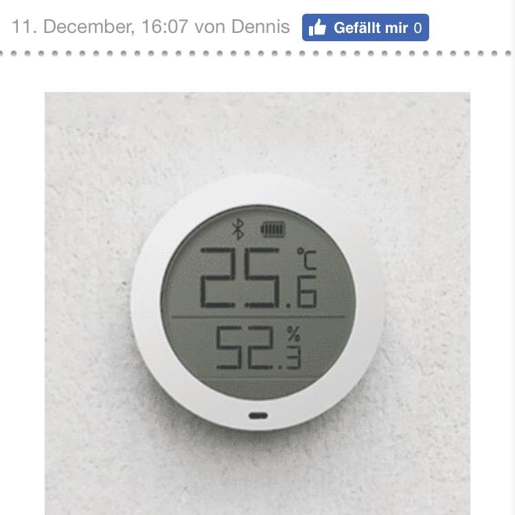Xiaomi Thermostat, Hygrometer mit Bluetooth