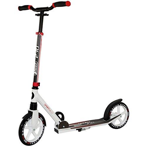 Preisfehler! Cityroller aus Aluminium mit ergonomischen Griffen, Tretroller in weiß/rot und weiß/blau für 21,99€