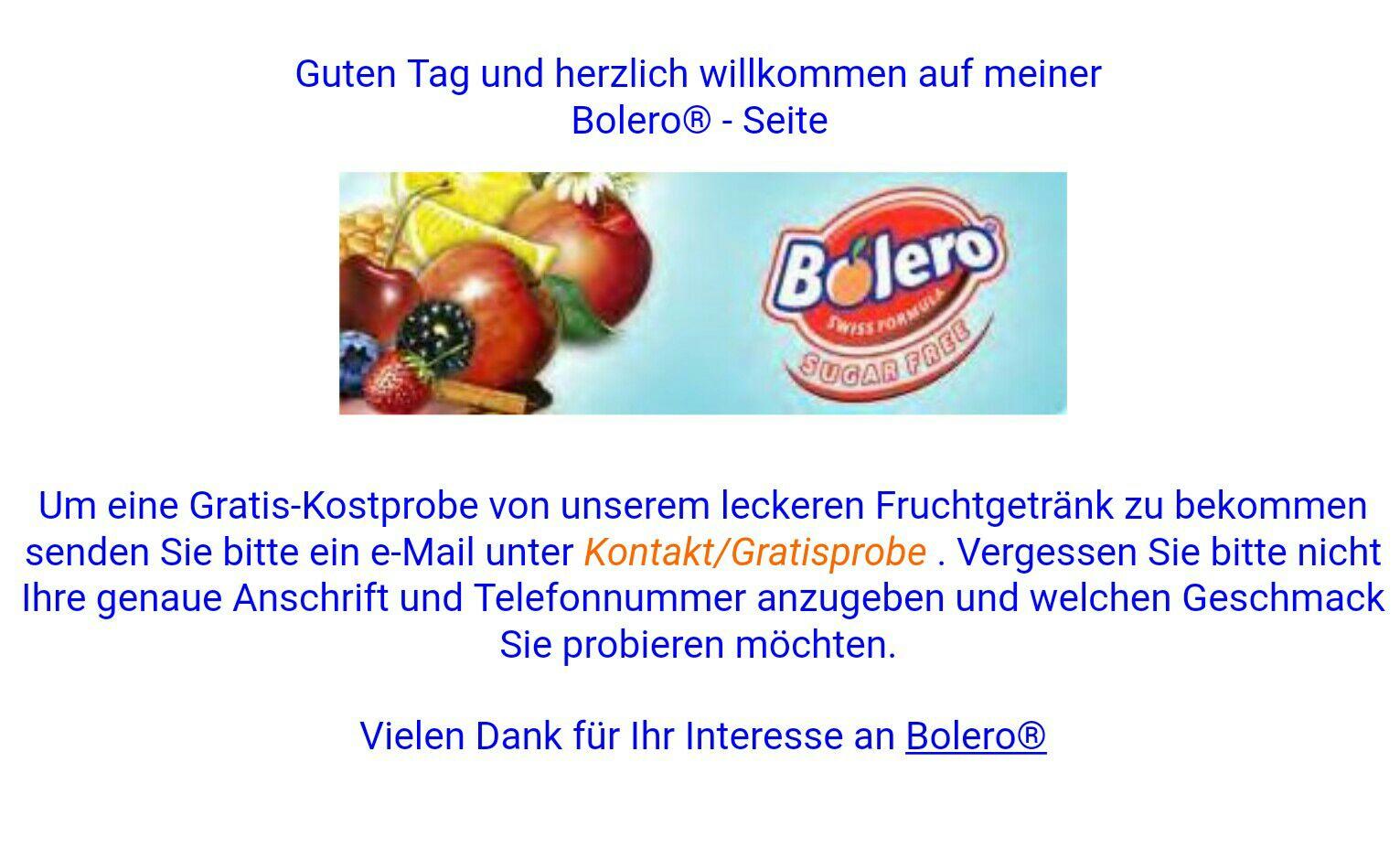 Bolero Getränkepulver Gratisprobe