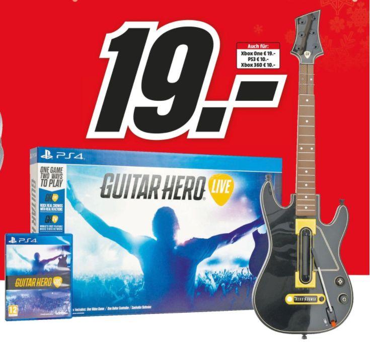 [Regional Mediamarkt Köln City am Dom /NUR HEUTE] Guitar Hero Live inkl. Gitarren Controller PS4 und Xbox One für je 19,-€ // Xbox 360 und PLaystation 3 für je 10,-€