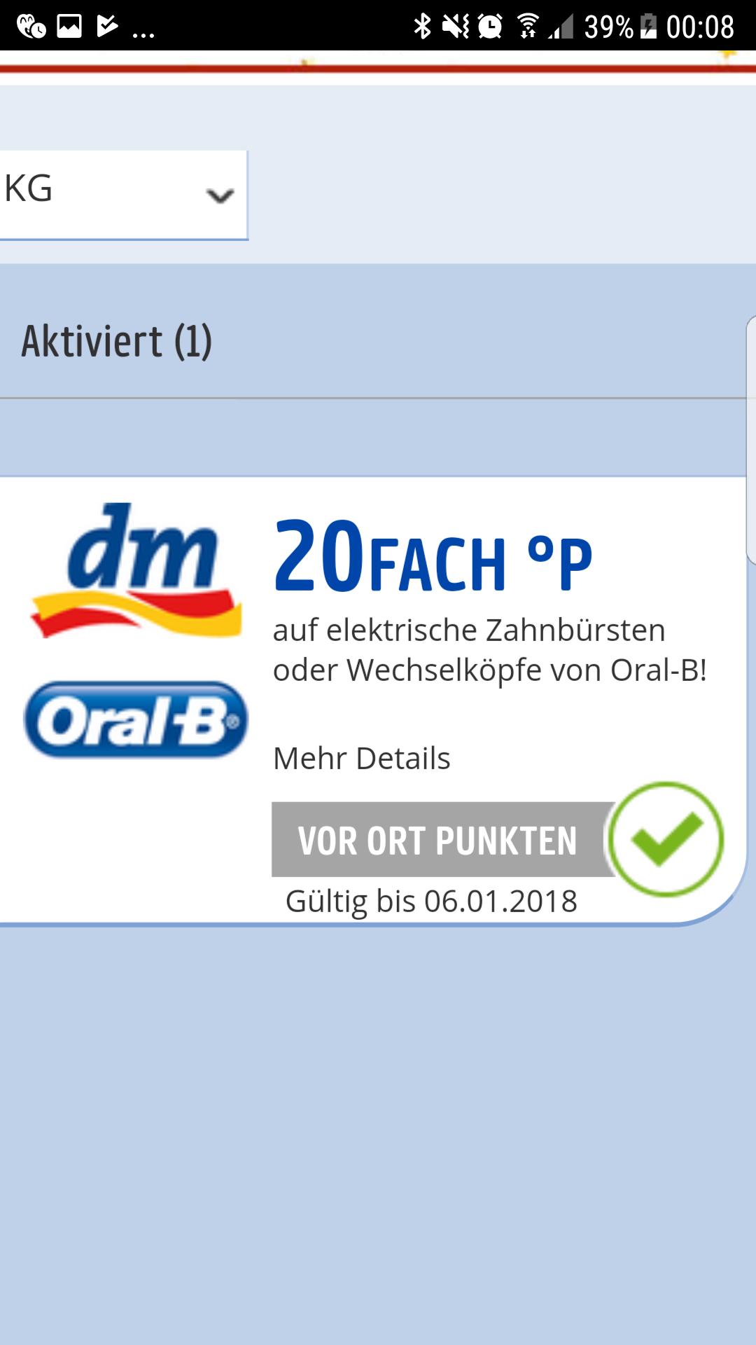 [Payback] 20fach Punkte auf Oral-B Produkte (nicht für alle...)