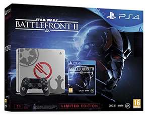 Sony PlayStation 4 (PS4) Slim 1TB + Star Wars: Battlefront 2: Elite Trooper Deluxe Edition - Limited Edition grau für 280,20€ (Amazon.fr)