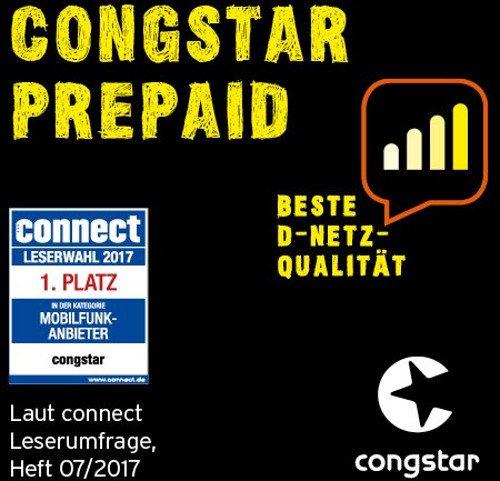 Congstar Prepaidkarte mit 10€ Guthaben für 4€ (Amazon Prime)