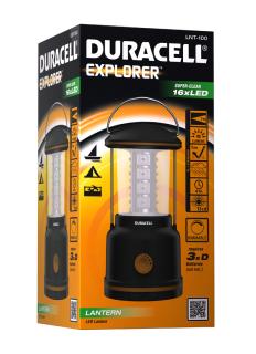 Duracell-Produkte bei top12, z.B. Duracell Camping Laterne Explorer LNT-100 für 12,12€ statt 17,50€