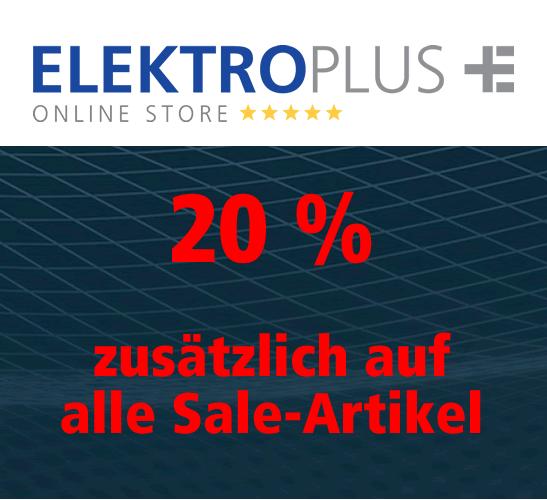 20 % zusätzlichen Rabatt auf alle Artikel in der Sale-Kategorie
