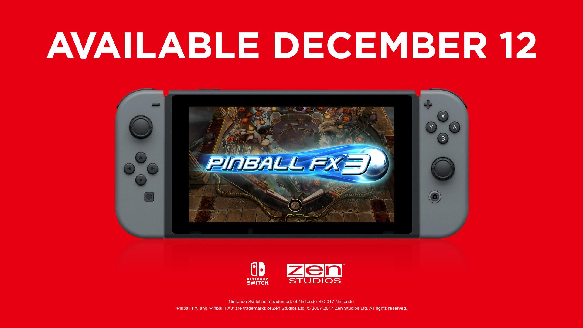 Nintendo Switch Eshop Pinball FX3 kostenloser Tisch Carnival und Legends