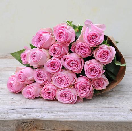 20 rosafarbene Rosen für 19,95€ inkl. Versand bei Blume2000