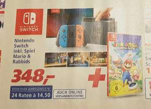Nintendo Switch inkl. Spiel : Mario & Rabbids  / 10% Rabatt / Real - Family and Friends
