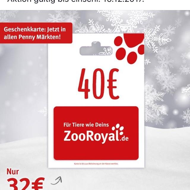 Zooroyal.de-40€-Gutschein für 32€ in allen Penny-Märktem