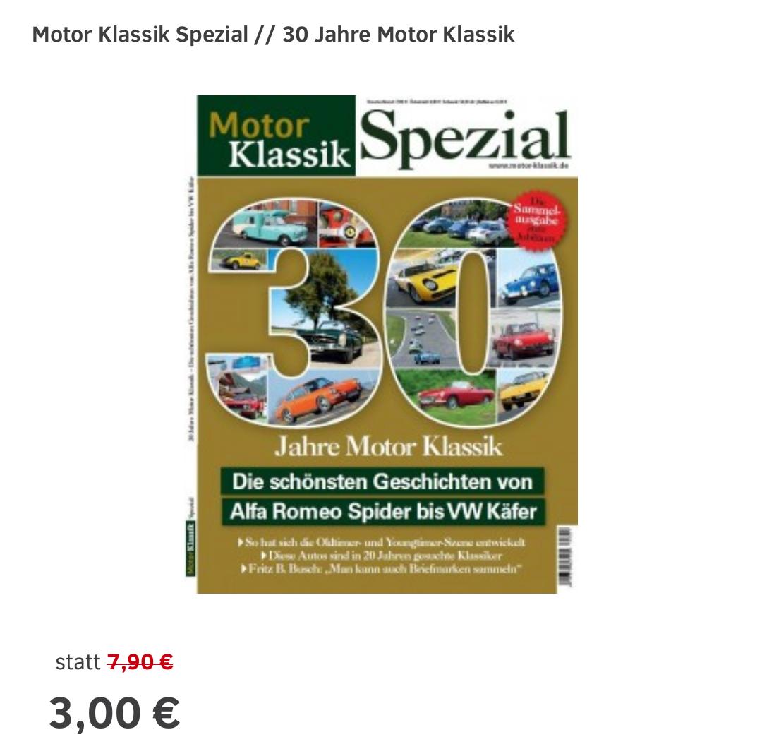 Bis zu 80 Prozent Rabatt auf ausgewählte Sonderhefte, Specials (Sportauto.de)