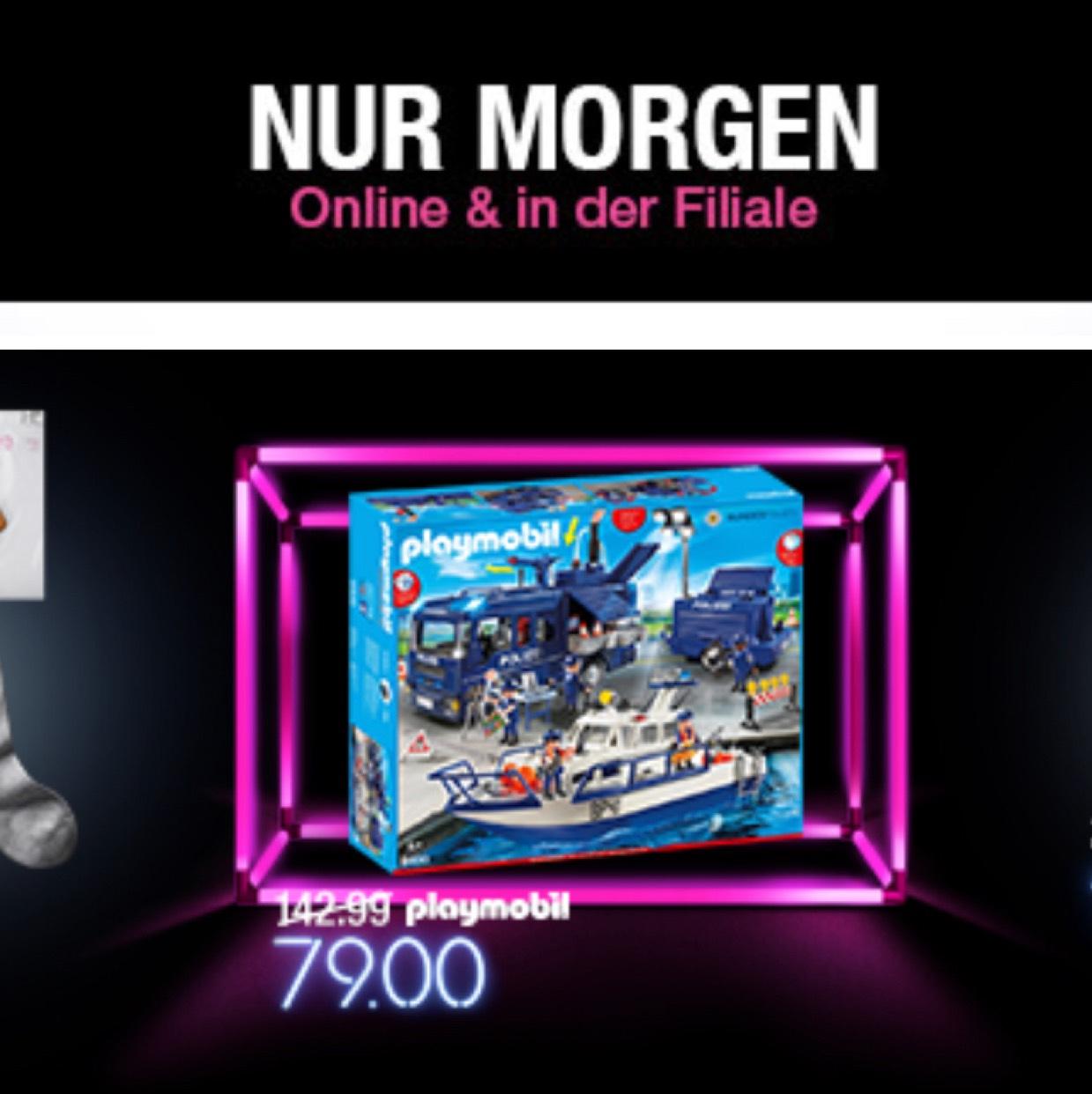 [Kaufhof offline und online] Playmobil 9400 City Action Bundespolizei - Großeinsatz VORABINFORMATION für morgen