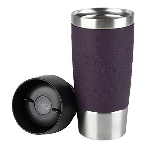 @Amazon Prime Emsa 513359 Isolierbecher, Quick Press Verschluss, 360 ml, blackberry