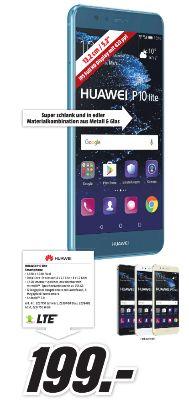 [Regionnal Mediamarkt München /Karlsfeld /Erding] Huawei P10 lite 32GB 4GB in allen Farben für je 199,-€