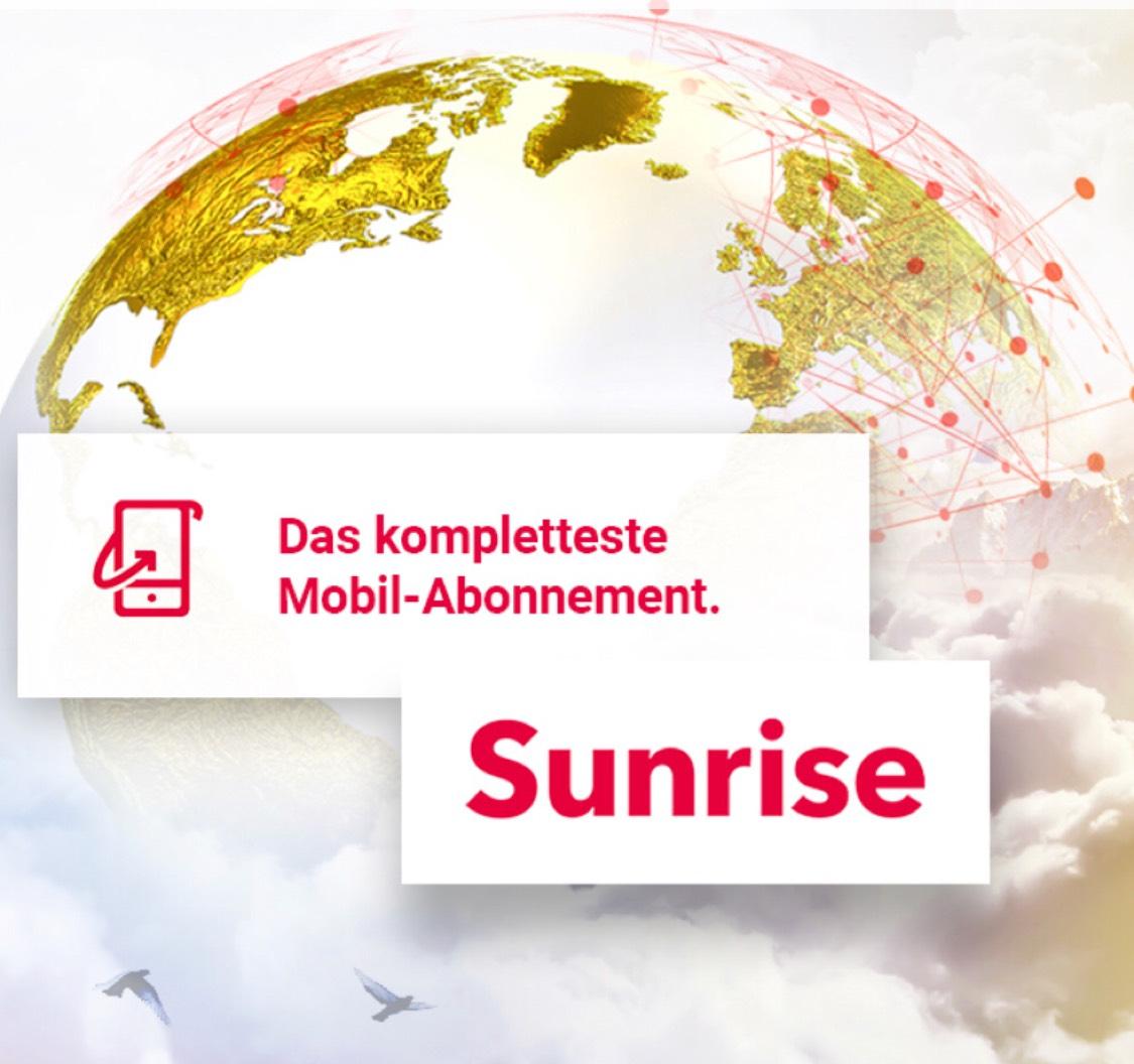 [Schweiz] Sunrise Handy Abo 55/Monat alles unlimitiert inkl. 2Gb im Ausland