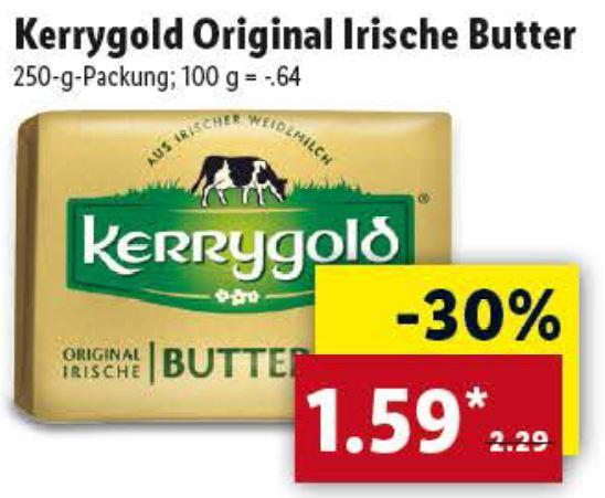[Lidl ab 18.12.] Kerrygold Original Irische Butter 250g