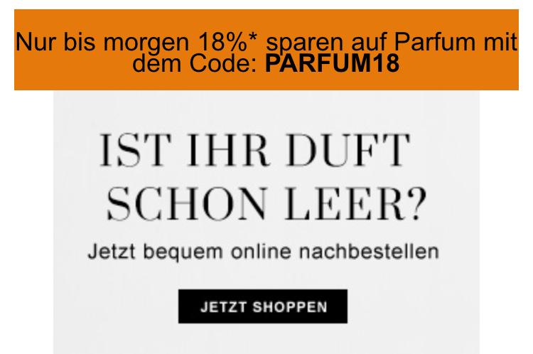 Flaconi - 18% Rabatt auf Parfums!