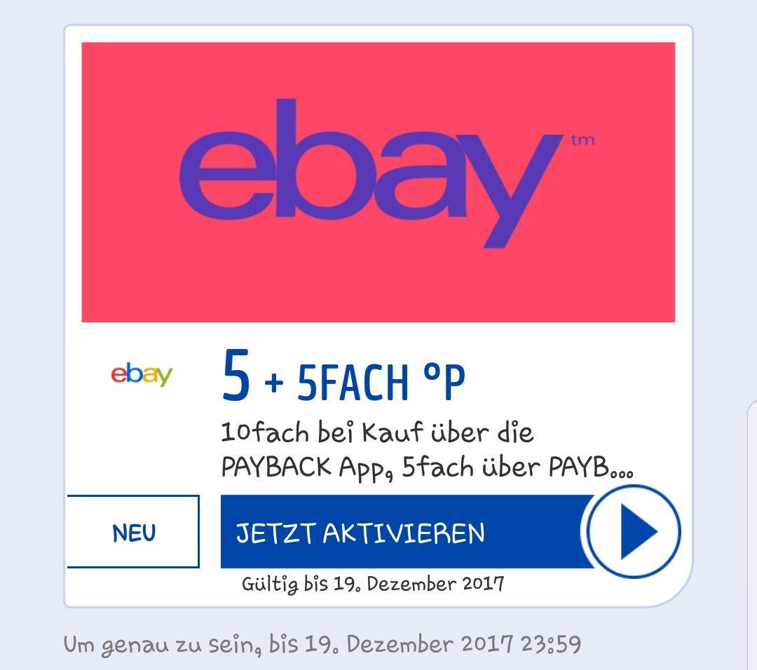 [Payback] 5fach Punkte bei eBay +5fach Punkte beim Kauf über die Payback App. 5% Rabatt auf den gesamten Ebay Einkauf sichern