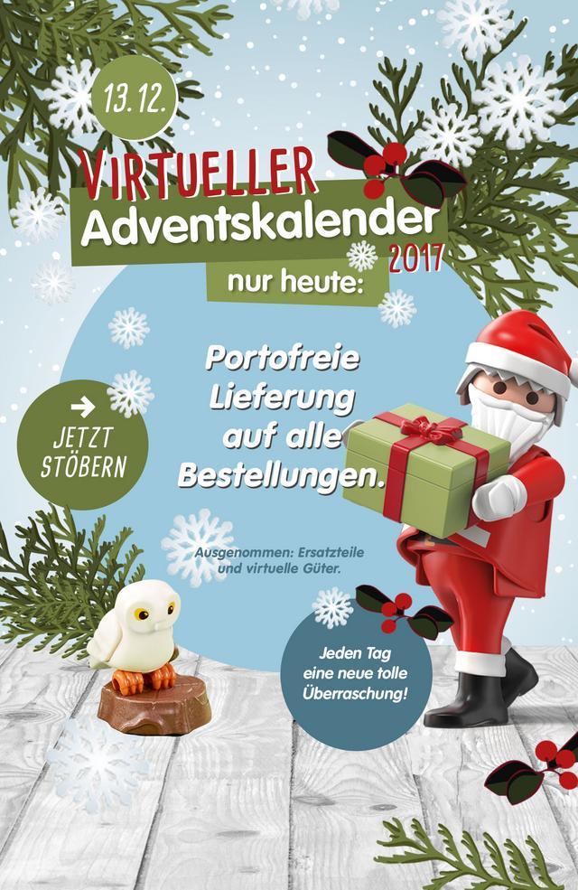 Playmobil Adventskalender: heute portofreie Lieferung (playmobil.de)