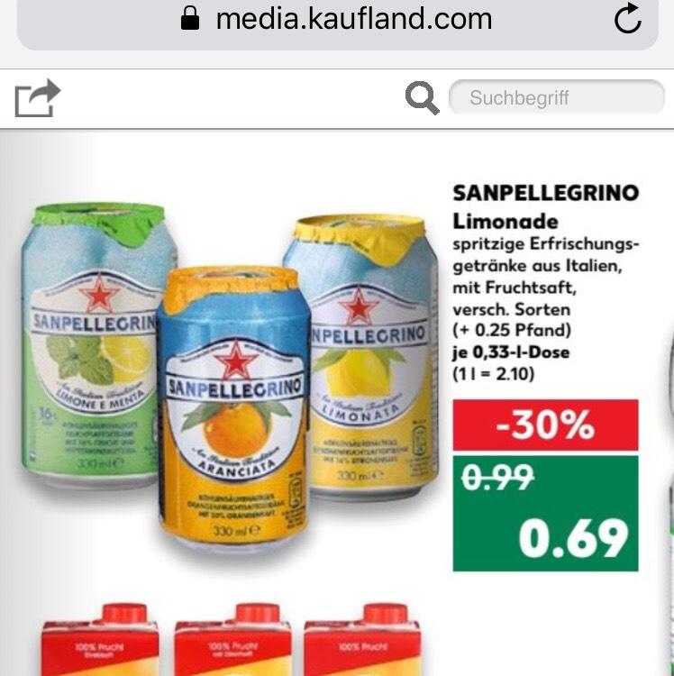 Sanpellegrino Kaufland bundesweit nur noch heute