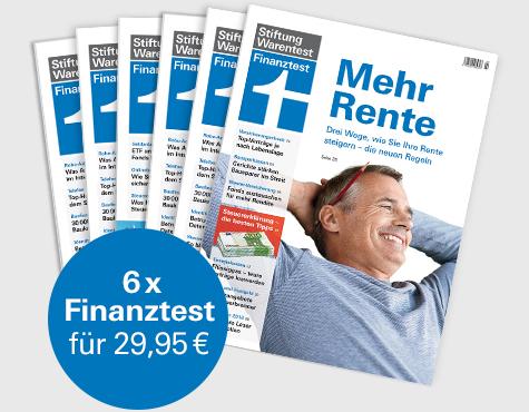 """[Stiftung Warentest]  6 Ausgaben Finanztest + Finanztest Buch """"Alles über Fonds (i.W.v. 19,90 €) + Notizbuch für zusammen 29,90 €"""