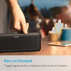 Anker SoundCore Boost 20W Bluetooth Lautsprecher mit BassUp Technologie, IPX5 [Amazon.fr]